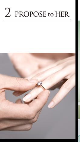 彼女に本物のダイヤモンドでプロポーズ
