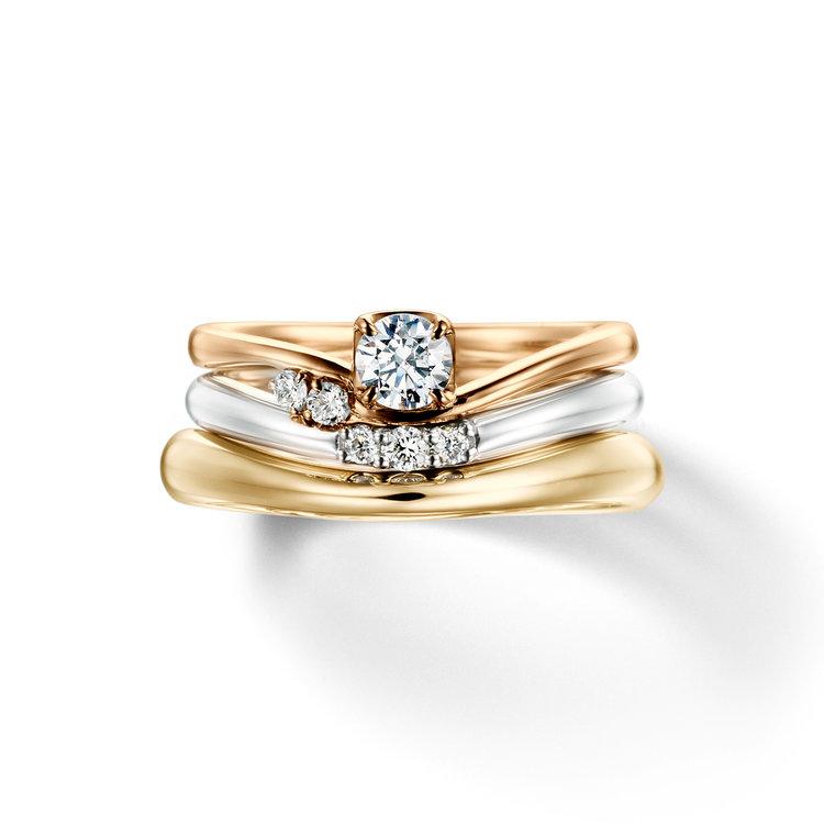 fika berry 笑って楽しく 婚約指輪 結婚指輪 セットリング