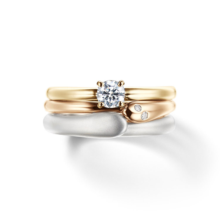 fika 北欧の風&白夜 幸せのメッセージ&語り合って 婚約指輪 結婚指輪 セットリング