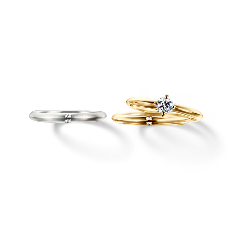 fika ふたり 共に歩む 婚約指輪 結婚指輪 セットリング