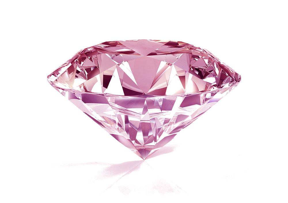 ピンクダイヤモンドPINK DIAMOND - その希少性の高さから、多くの女性の憧れのピンクダイアモンドを贅沢に使用。CAFERINGが選んだ小さなピンクの光は主役のダイアモンドの輝きを、よりフェミニンに、よりエレガントに輝かせます。