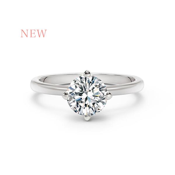 フォーエバーマーク ブライダルコレクション_セッティング プレーン婚約指輪