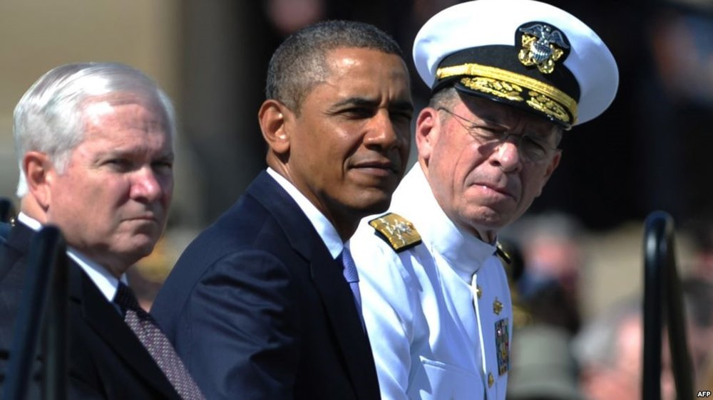 Adm Mullen with President Barrack Obama