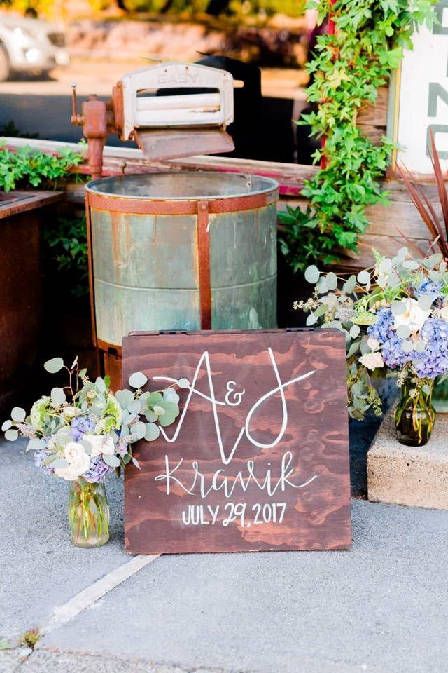 A-frame wedding sign
