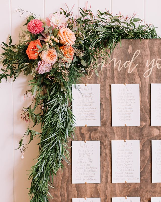 *insert some saying about how time flies by way too fast and holy crap how is it already November I feel like it was just summer and yes I say this every year* . . . Photo @juliannajphotography  Florals @aunatureldesigns . #seattlecalligraphy #seattlebride #seattlecalligrapher #woodseatingchart #rusticweddingdecor #chelanwedding #seattlebrideandgroom #seattleweddingcalligraphy #seattleweddingvendor #seattleartist #chelanbride #pointedpencalligraphy #drphmartinscopperplategold #rusticseatingchart #findyourseat #uniqueseatingchart #weddingcalligraphy #weddingseatingchart