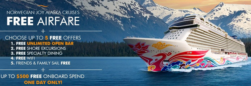 Ends Tonight! Free Airfare When You Book an Alaska Cruise — Virtual