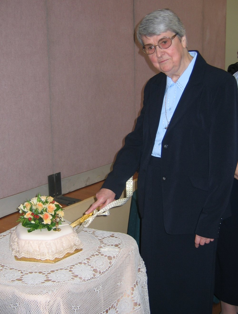 Sr Patricia celebrates 50 years professed in Religious Life .