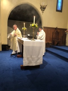 Easter Eucharist, Fr Stephan, Sr Juliana SI