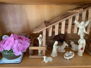 Nativity set in the Chapel