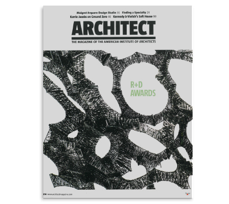 Building Bytes was selected as the winner of the  Architect Magazine's 2014 R + D Awards.