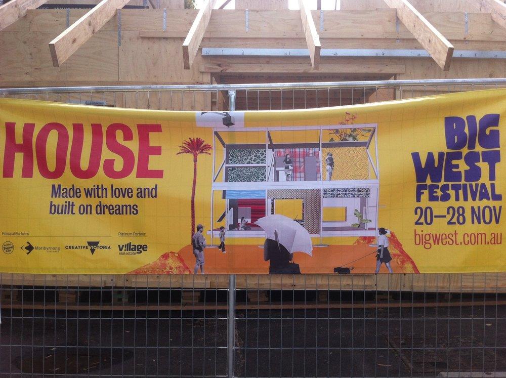 Installing HOUSE, Footscray 2015