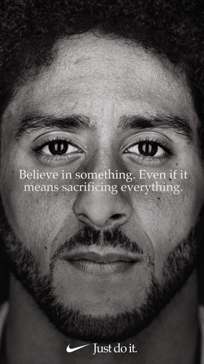 - Colin Kaepernick is one face of Nike's 30th anniversary 'Just Do It' campaign.