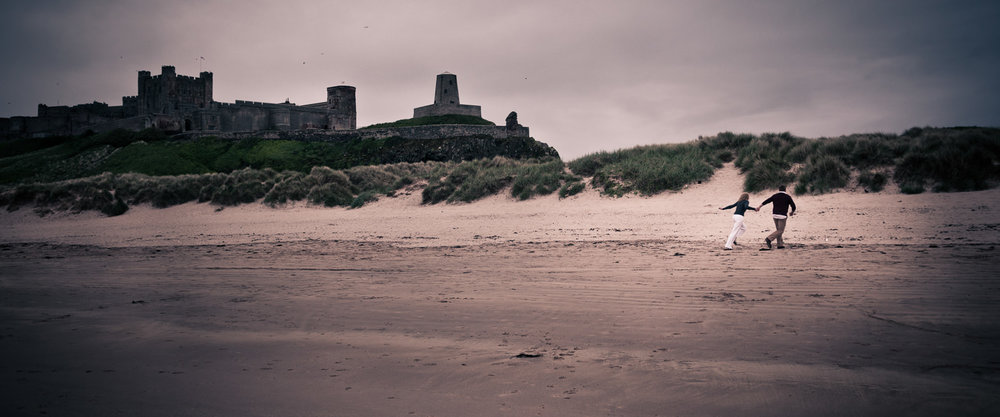 engagement pre wedding photo bamburgh