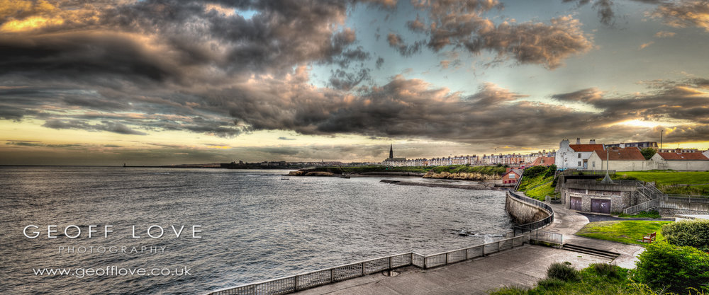 Cullercoats harbour view
