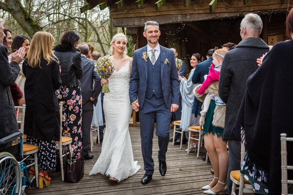 wedding at alnwick treehouse