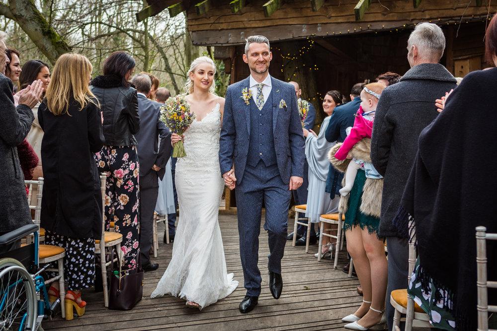 wedding at alnwick treehouse