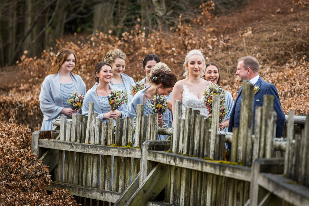 wedding group at alnwick treehouse