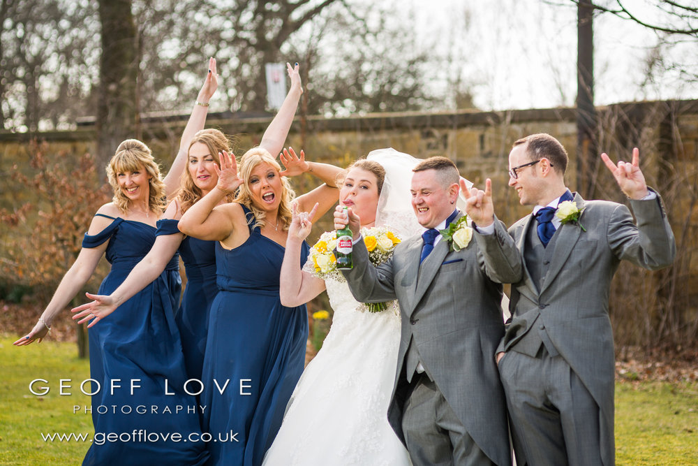fun wedding photo gosforth park marriott weddding