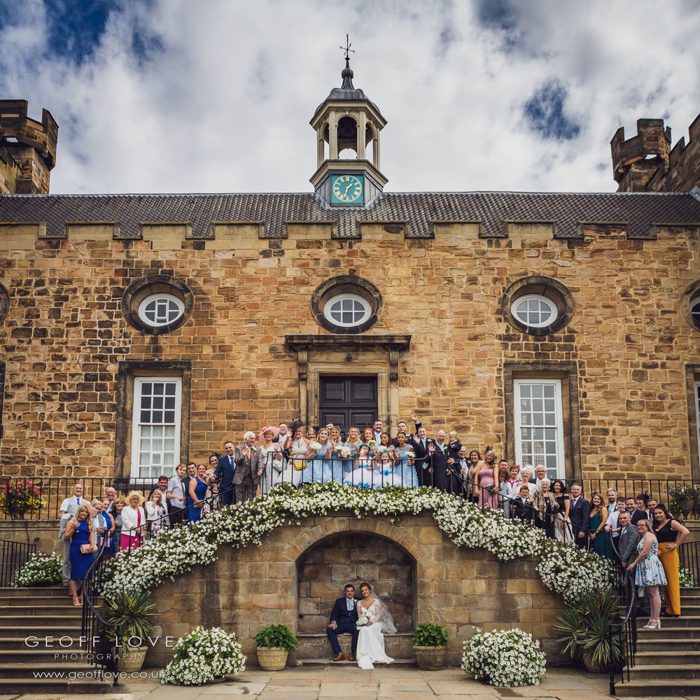 lumley castle outdoor wedding