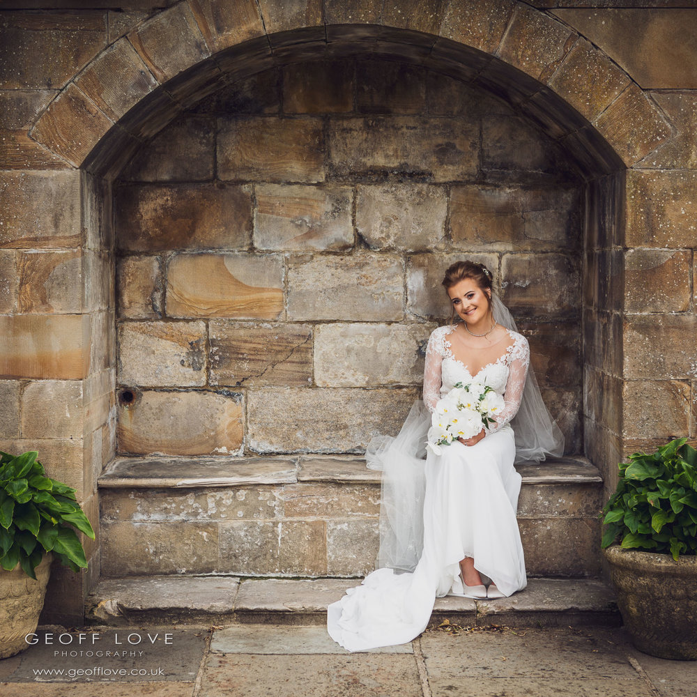 lumley castle summer wedding