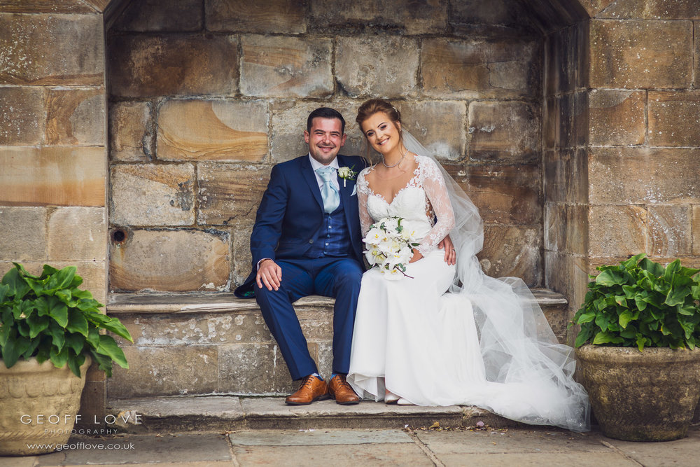 lumley castle bride and groom