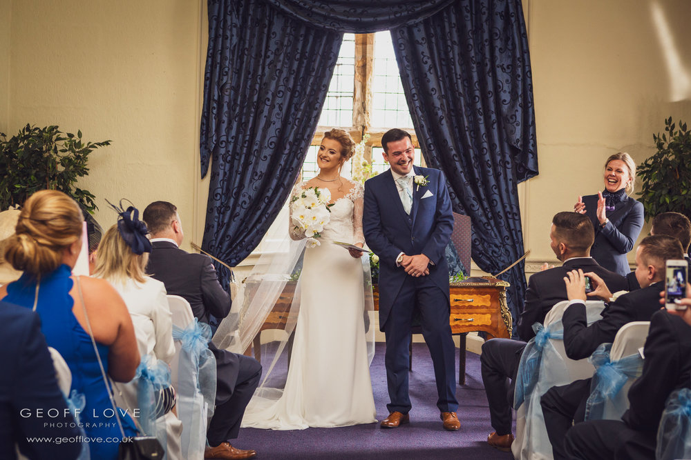 lumley castle wedding photo