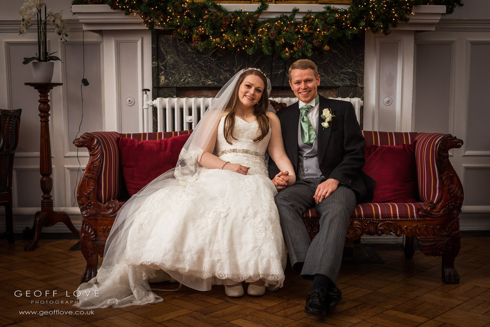 beamish hall winter wedding photographer