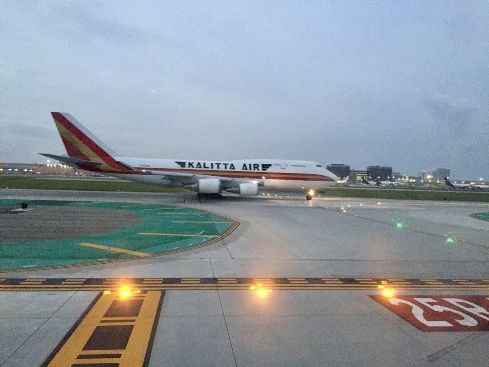 Kalitta Air Boeing 747 taking off