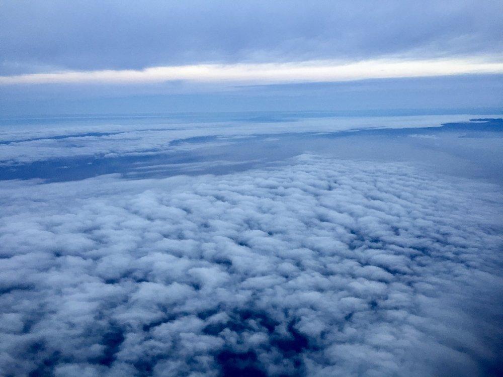 Dusky cloud cover off the Santa Monica Bay