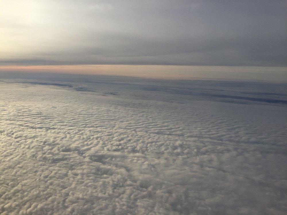 Dusky cloud cover over Oklahoma