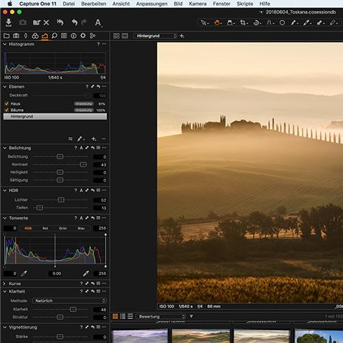 9. Bildbearbeitung  Dazu kann man ein eigenes Kapitel schreiben. Ich fotografiere ausschliesslich im RAW Format. Je nach Situation verwende ich Capture One, Lightroom oder auch DXO LAB zur Bildentwicklung. Dabei korrigiere ich meist Ausschnitt, Ausrichtung, Weissabgleich, Verzerrungen, Höhen und Tiefen bevor ich das Bild noch in Photoshop fertig optimiere.