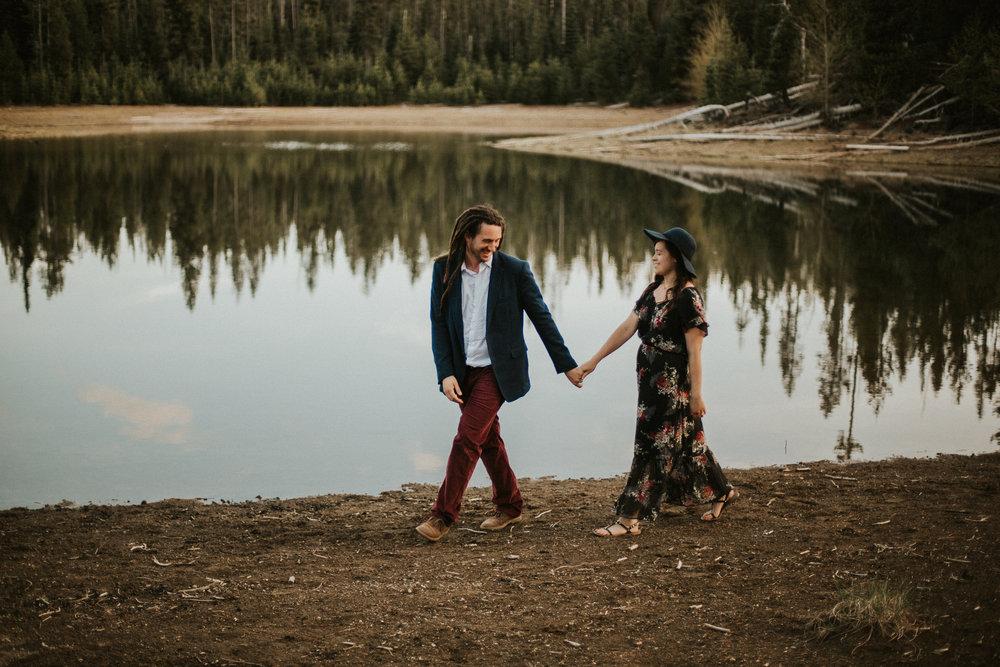Elk Lake Engagement Session | Rosemary & Pine Photography