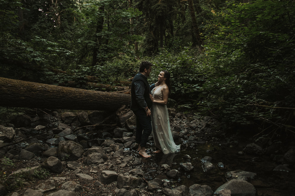 Forest Park Engagement Session in Portland Oregon   Rosemary & Pine Photography