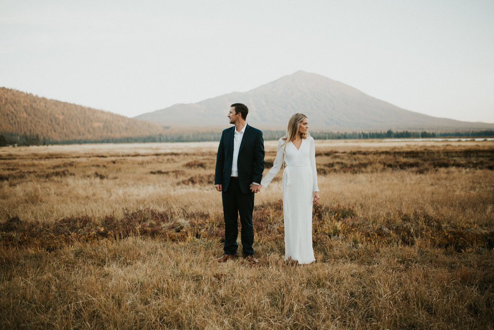 Mt. Bachelor Blue Hour Engagement Session, Bend Oregon | Rosemary & Pine Photography