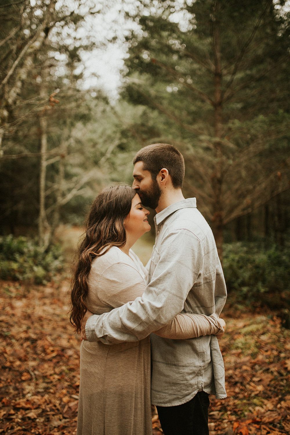 Intimate + Sweet Engagement Session on Forested Oregon Property with Garrett and Heidi