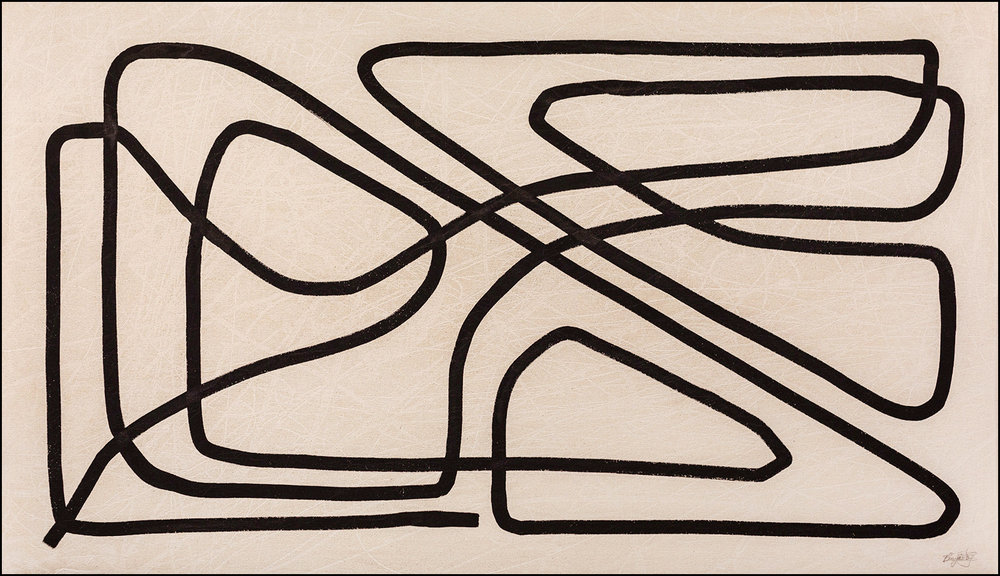 Vocare  - 2018 - Ink on Paint on Canvas - 41.5 x 24 Inches (105 x 61cm) — $2,800 USD