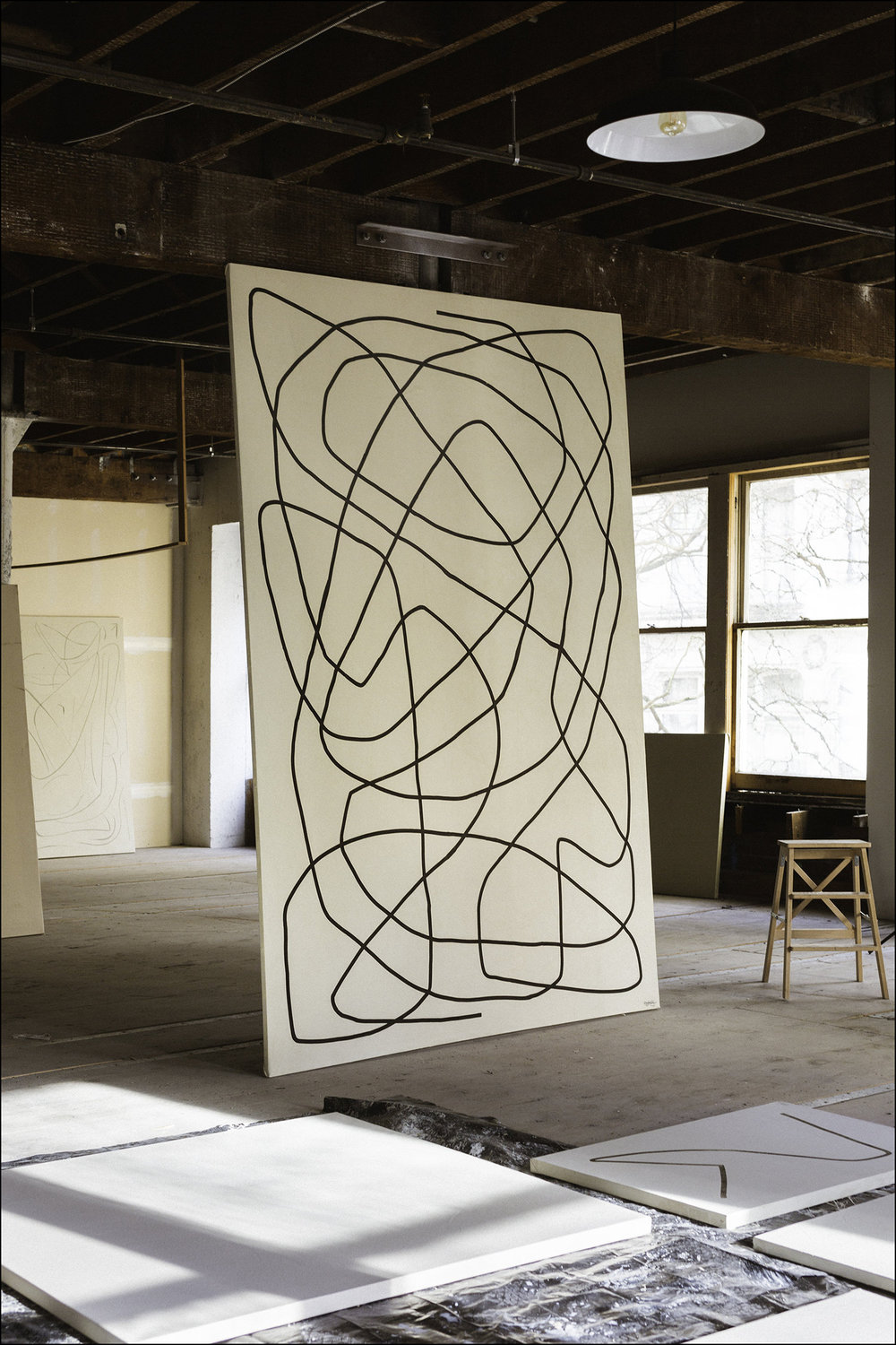 Common  - 2018 -Ink on Paint on Canvas - 114 x 75 Inches (289.5 x 190.5cm) —Inquire for Pricing