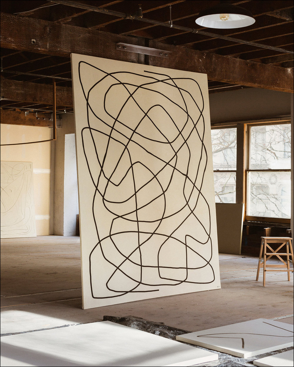 Common  - 2018 - Acrylic on Canvas -75 X 114 Inches (190.5 X 289.5cm)