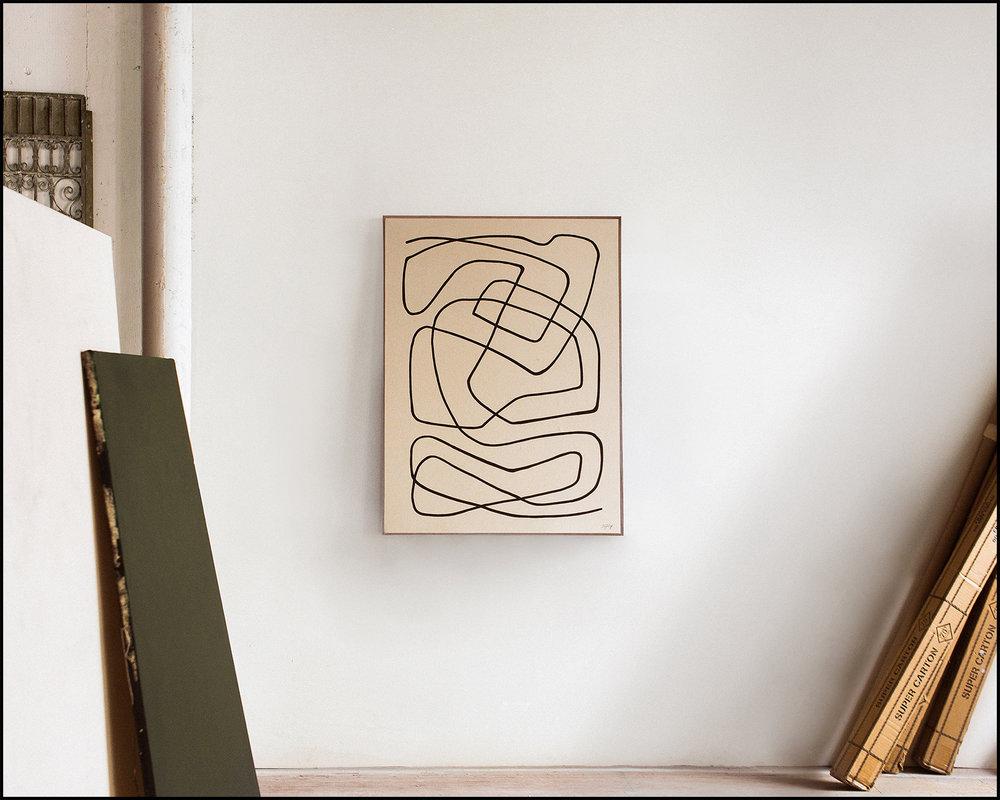 Temperance  - 2018 -Acrylic on Canvas -30 x 40 Inches (76 X 101cm)