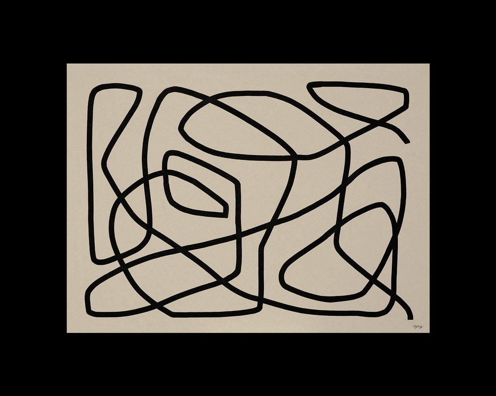 Keel  - 2018 -Acrylic on Canvas -30 x 40 Inches (76 X 101cm)