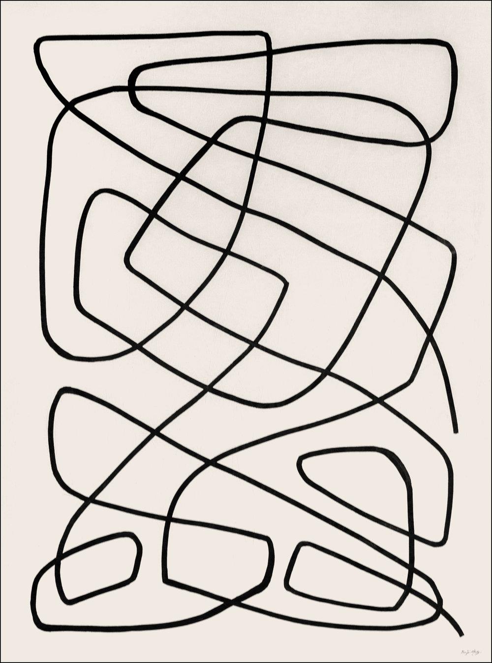 Seek  - 2018 - Acrylic on Canvas -36 x 48 Inches (91.4 x 121.9cm) - $3,600 USD