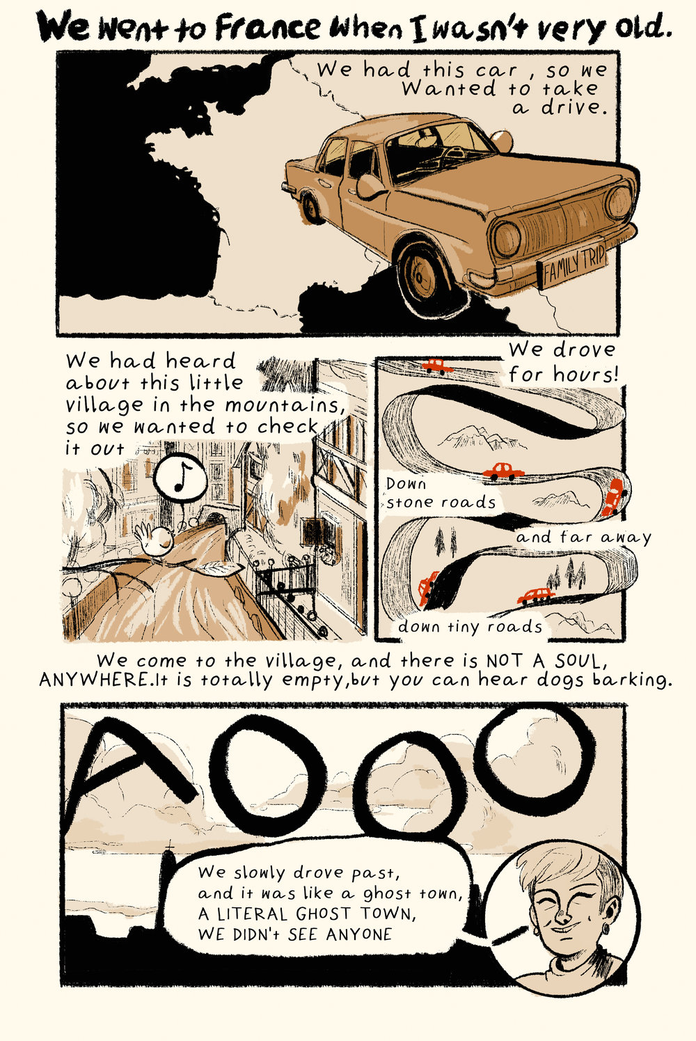 Comic retelling of an interview I took with a Hope Hjort, a classmate of mine.