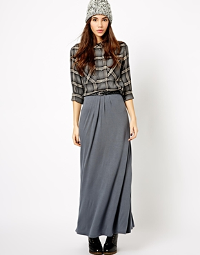 New Look belted jersey maxi skirt. ASOS.