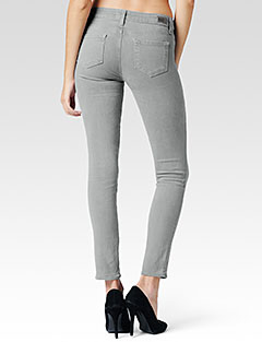 Paige Skyline ankle peg cloud cover skinny jeans. $189. Paige USA.