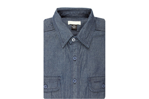 Blue selvedge chambray shirt. $82.The Unbranded Brand.