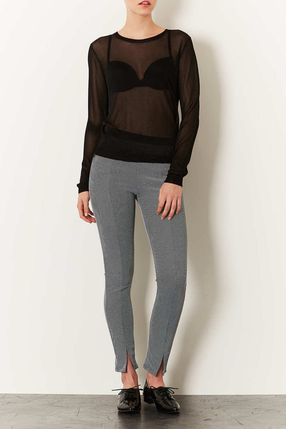 Spot split front treggings. $56. Topshop.