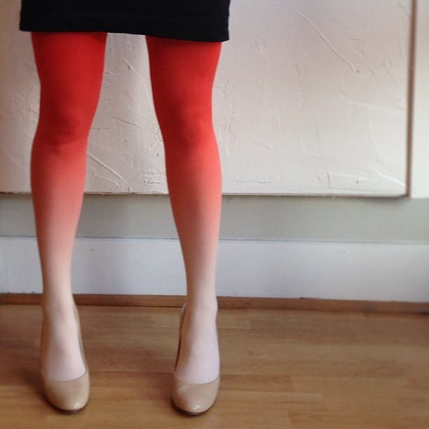 BZR Sunset breeze ombre tights. $44. Velouria.