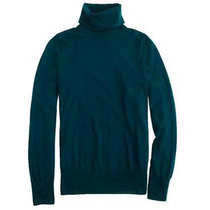 Pack green merino wool turtleneck sweater. J Crew. $85