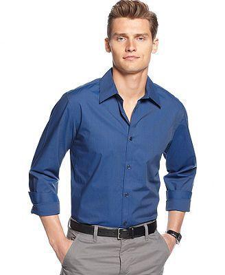 Calvin Klein shirt, long sleeve mini stripe non-iron. Macy's. Was $55. Now $39.99.