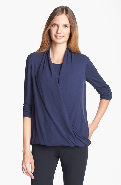 Lafayette 148 New York Georgette overlay top.  Nordstrom. Was $398 now $318.40.
